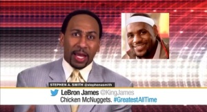 Stephen A LeBron James Chicken McNuggets